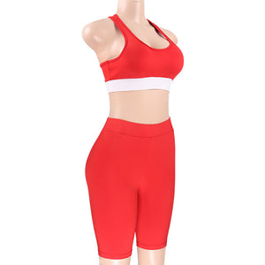 Trinity - Fitness Top + Leggings Shorts - 2 Piece Set - Activa Star