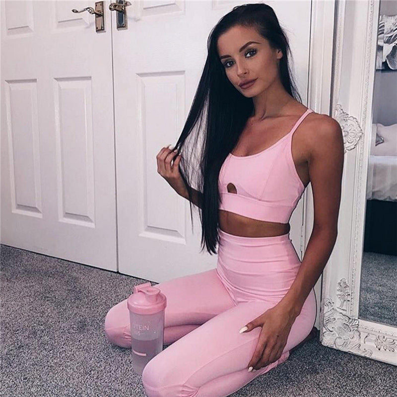 Esther - Fitness Top + Leggings - 2 Piece Set - Activa Star