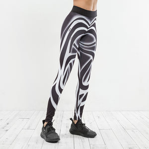 Tanya Stripe Print Slim Leggings - Activa Star