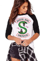 Womens Riverdale Southside Serpents Pattern T-shirt
