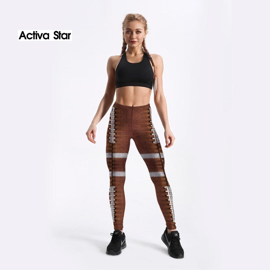 Football Print Leggings - Activa Star