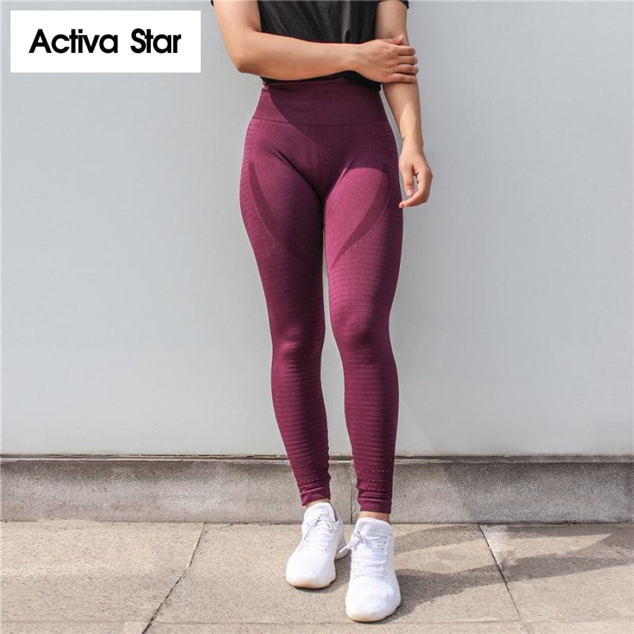 High Waist Push Up Sport Leggings Active