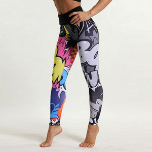 Comic Toon Fashion Leisurewear Running Yoga Pants Leggings - Activa Star