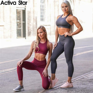 Lola Women's Yoga Fitness Top + Leggings - 2 Piece Set - Activa Star