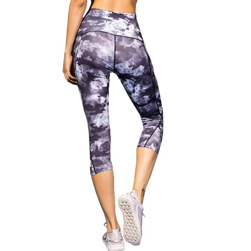 Mckenna Women's High Waist Fitness Capri Leggings - Activa Star