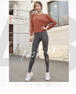 Side Mesh Patchwork High Waist Workout Yoga Leggings - Activa Star