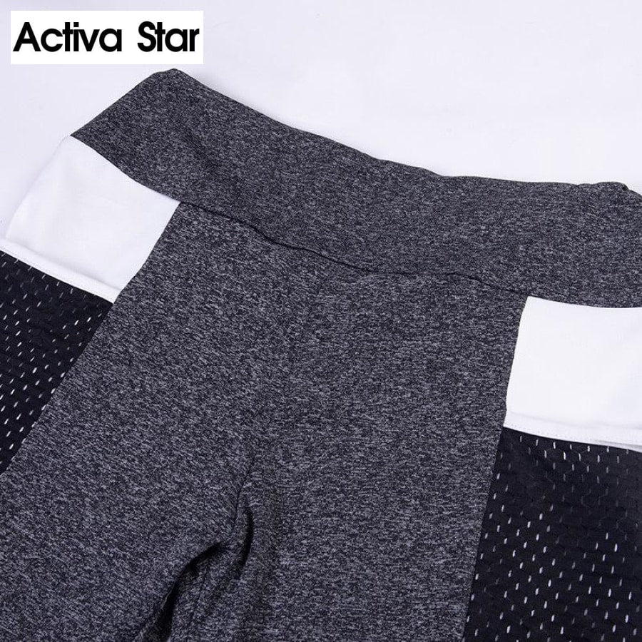 Yoga Pants Leggings with Mesh Pocket - Activa Star