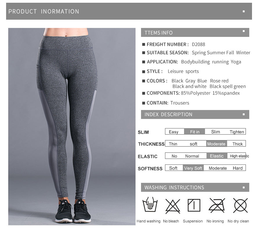Angela Fitness Yoga Pants Leggings - Activa Star