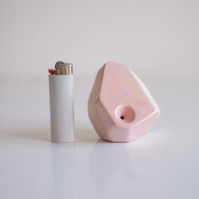 iridescent sculptural pipes - Paloma Pink