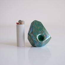 Palm Green :  iridescent sculptural pipes