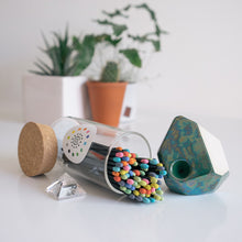 Multicolored Fireplace Matches and Stonedware x BARBARI Geopipe