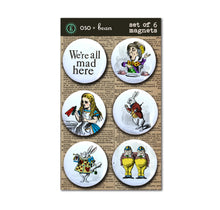 Set 2: Alice in Wonderland Set of Six Magnets