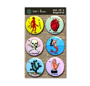Loteria Cards 1 inch Magnets Set