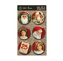 "Christmas Set of Six 1"" Magnets"