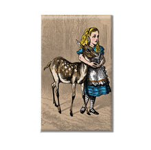 Alice in Wonderland Fawn and Alice Magnet or Hand Mirror