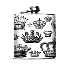 Crowns Whiskey Flask