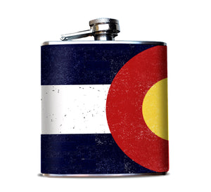 Colorado State Flag Hip Flask