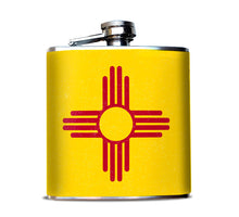 New Mexico State Flag Flask