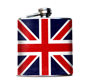 UK Flag, Union Jack Patterned Hip Flask