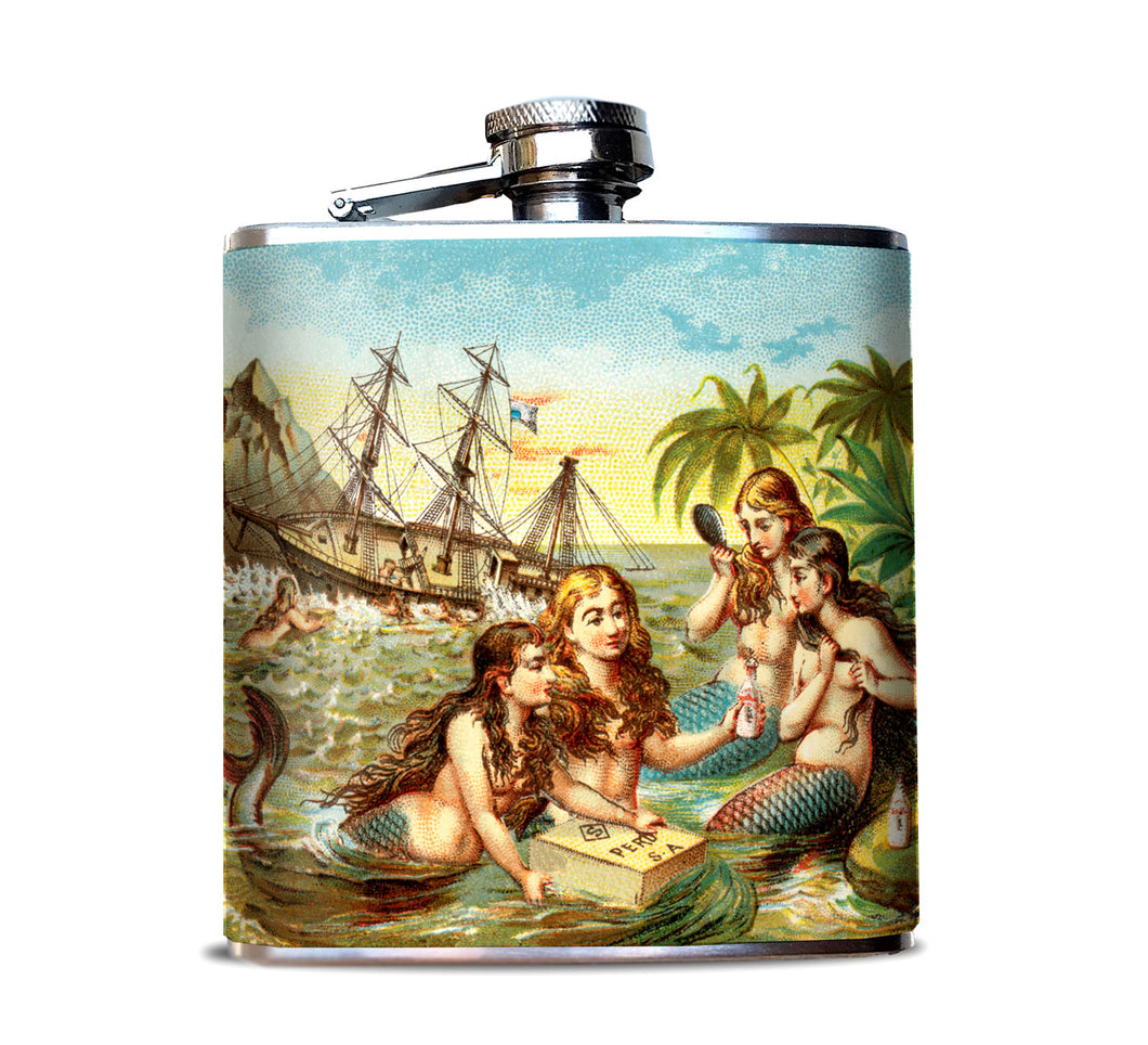 Mermaids Beachy Hip Flask