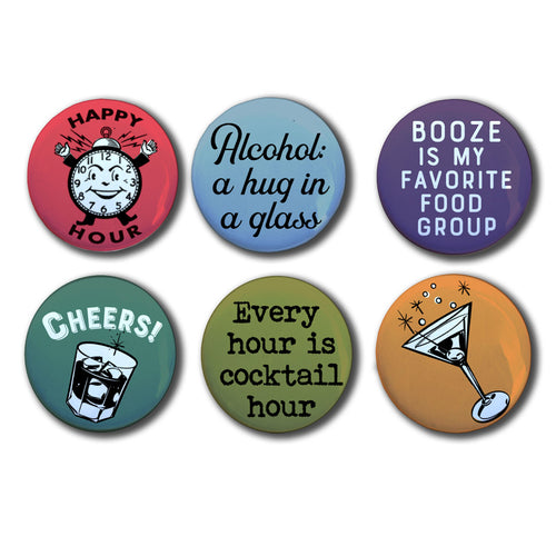 Happy Hour, Retro Magnet Set, Six 1