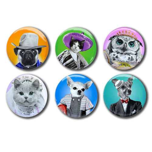 Anthropomorphic Animal Collectible Magnets