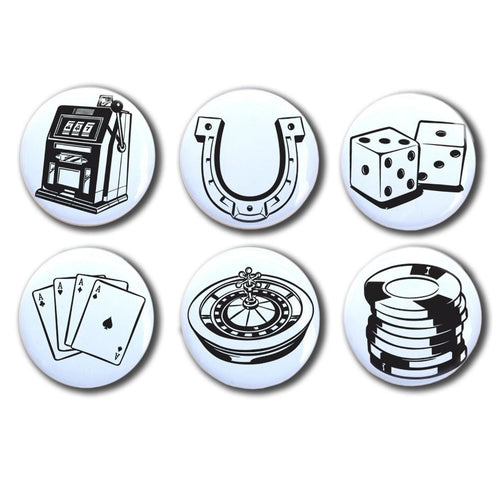Vintage Dice and Cards, Gambling Magnets