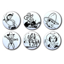 Retro Cowgirl, Western saddle magnets