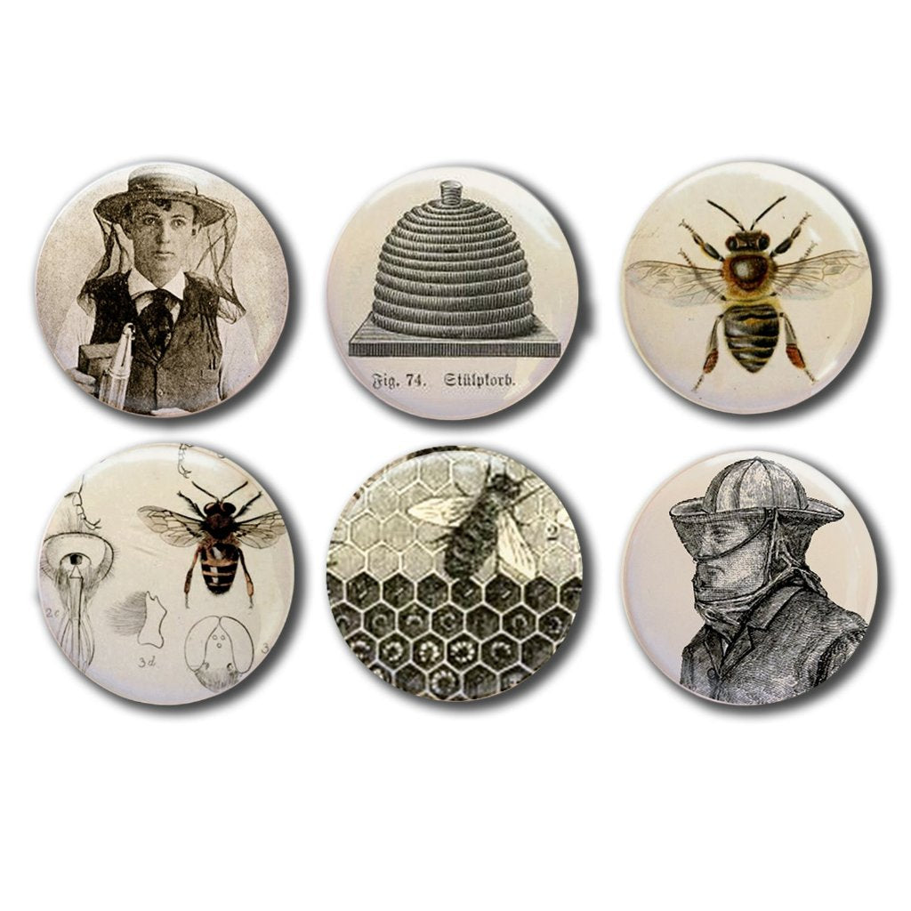 Antique Bee Hive, Vintage Beekeeper Collectible Magnets