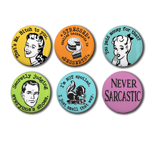 Snarky and Sweary Magnet Set, Set #1