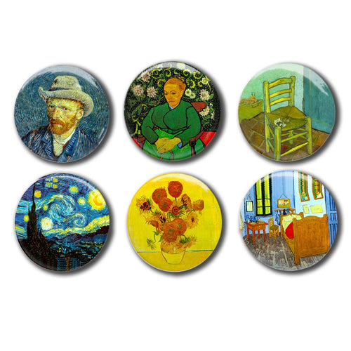 Van Gogh Famous Painting Collectible Magnet Set