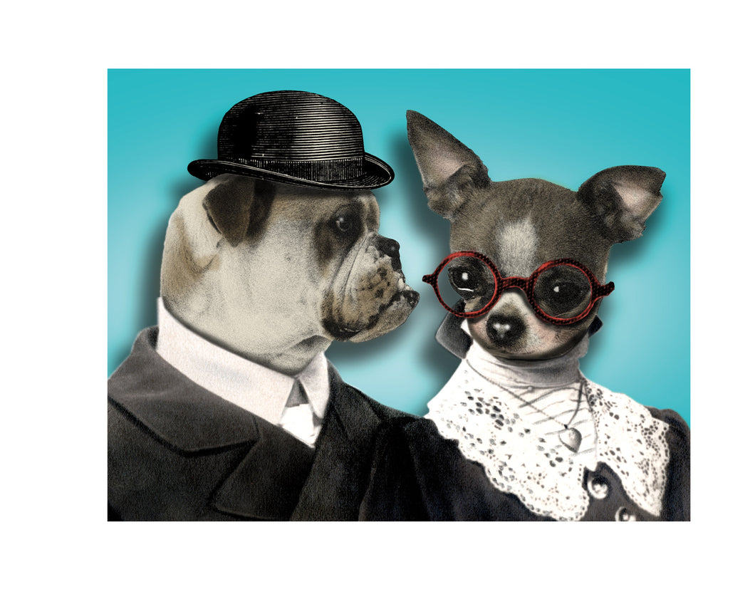 Dog Couple Greeting Card