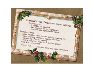 Grandma's Vegan Eggnog Recipe Christmas Card