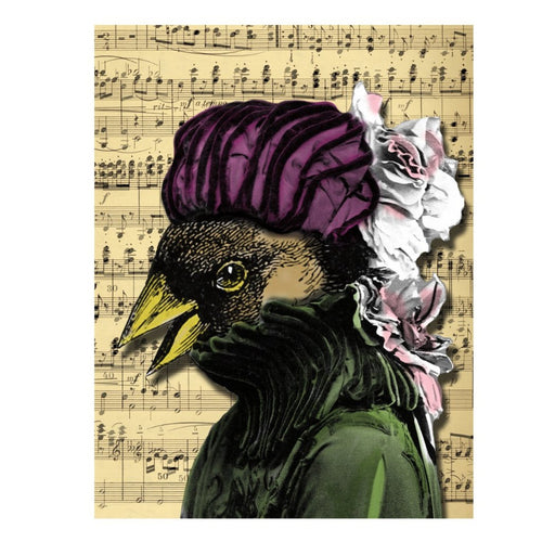 Song Bird Blank Greeting Card