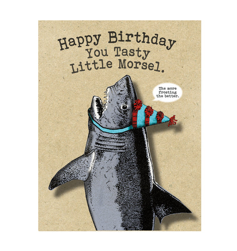 Shark Birthday Card