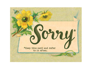 I'm Sorry. Keep this Card for many more sorry occasions.