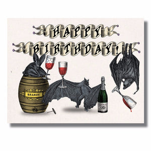 Drunken Bats Funny Birthday Card