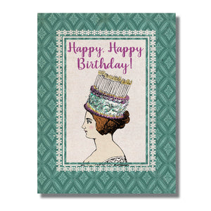 GLITTER Queen of Birthdays Card