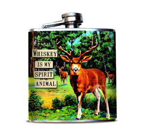 Whiskey is my Spirit Animal Alcohol Flask