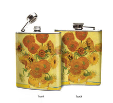 Van Gogh Sunflowers Hip Flask