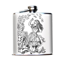 Alice in Wonderland Alice and Cards Alcohol Flask