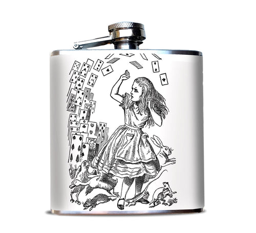 Alice and Cards, Alice in Wonderland Hip Flask