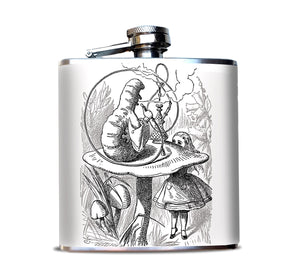 Alice in Wonderland Hookah Smoking Caterpillar Flask