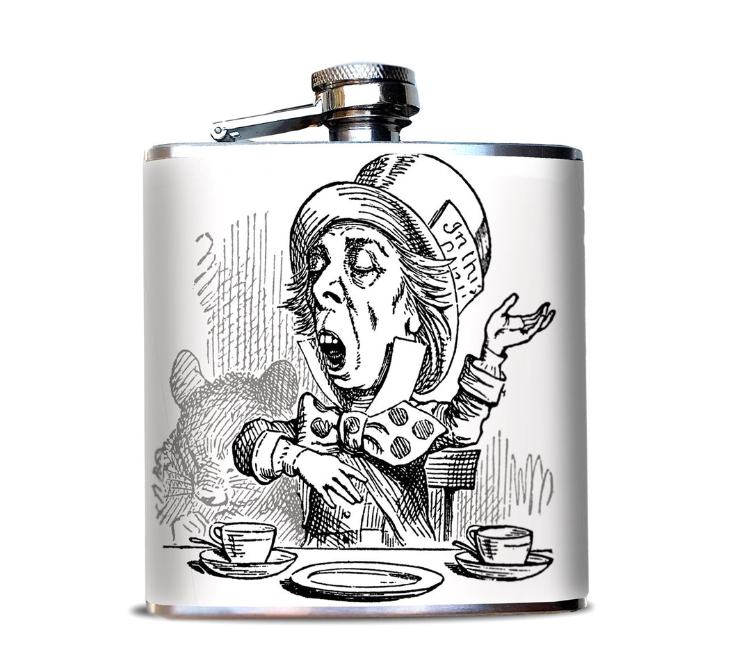 Mad Hatter Alcohol Flask