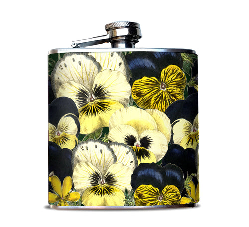 Pansy Flower flask for Women