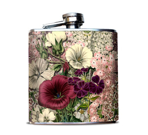 Pink Flower Bouquet Flask for Woman