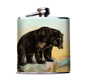 Bear Grizzly image Hip Flask