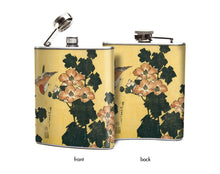 Hibiscus and Sparrow Hip Flask