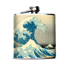 The Great Wave Alcohol Flask
