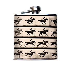 Muybridge Race Horse Hip Flask